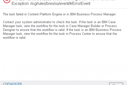 the task failed because of the following error work performer exception